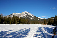 Mount Norquay and Frozen Bow River