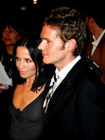 "Andrea Corr & Shaun Evans attending the red carpet gala premier for ""Being Julia"" at the 2004 Toronto International Film Festival"