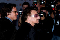 "Director Davis Guggenheim and musician Paul ""Bono"" Hewson attending the red carpet gala premier for ""From the Sky Down"" at the 2011 Toronto International Film Festival (TIFF)"