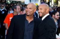 "Baseball player David Justice & actor who played him Stephen Bishop attending the red carpet gala premier for ""MoneyBall"" at the 2011 Toronto International Film Festival (TIFF)"