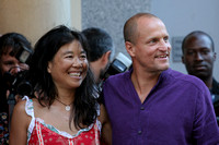 "Woody Harrelson & wife Laura Louie attending the red carpet gala premier for ""No Country for Old Men"" at the 2007 Toronto International Film Festival"